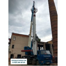 Монтаж автокраном 50 тонн вышки связи